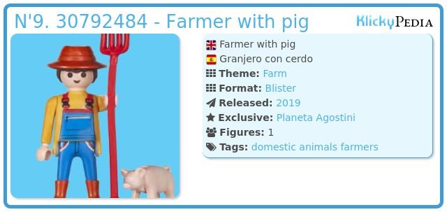 Playmobil N'9. 30792484 - Farmer with pig