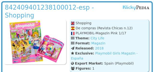 Playmobil 842409401238100012-esp - Shopping