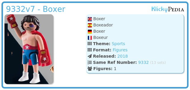 Playmobil 9332v7 - Boxer