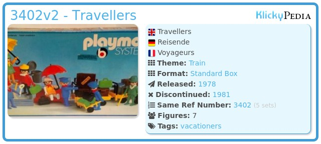 Playmobil 3402v2 - Travellers