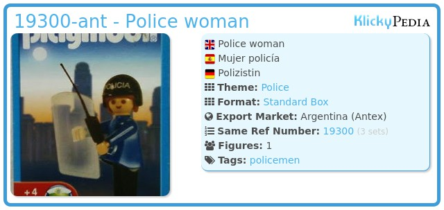 Playmobil 19300-ant - Police woman