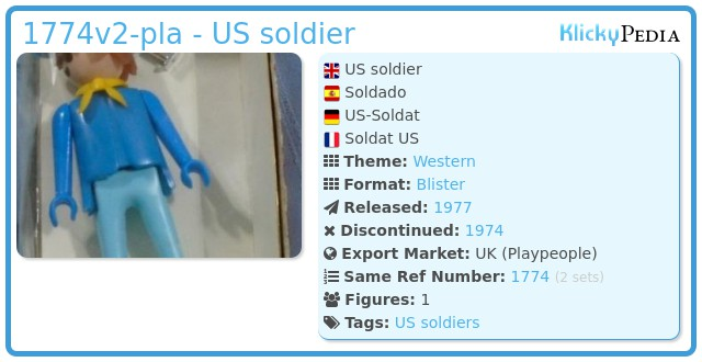 Playmobil 1774v2-pla - US soldier