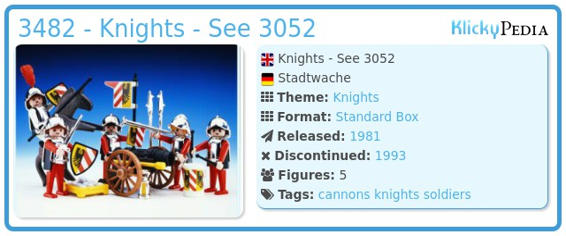 Playmobil 3482 - Knights - See 3052