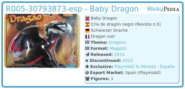 Playmobil R005-30793873-esp - Baby Dragon