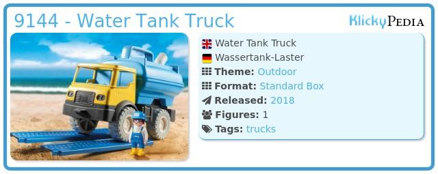 Playmobil 9144 - Water tank truck