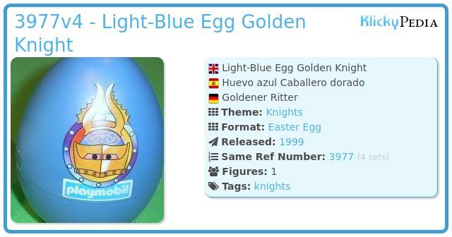 Playmobil 3977v4 - Light-Blue Egg Golden Knight