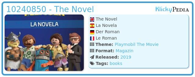 Playmobil 10240850 - The Novel
