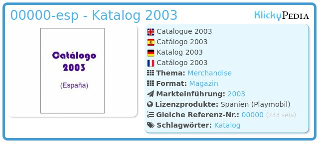 Playmobil 00000-esp - Katalog 2003