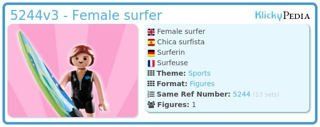 Playmobil 5244v3 - Female surfer