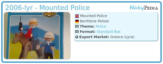 Playmobil 2006-lyr - Mounted Police