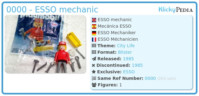 Playmobil 0000 - ESSO mechanic