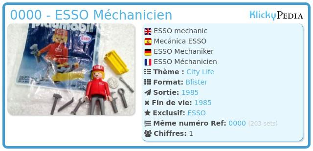 Playmobil 0000 - ESSO Méchanicien