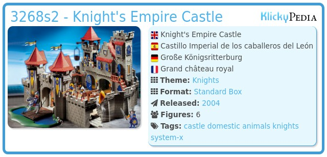 Playmobil 3268s2 - Knight's Empire Castle