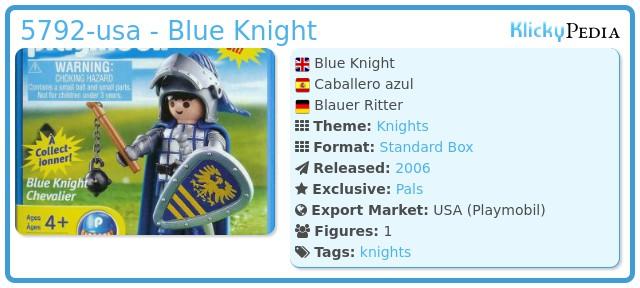 Playmobil 5792-usa - Blue Knight