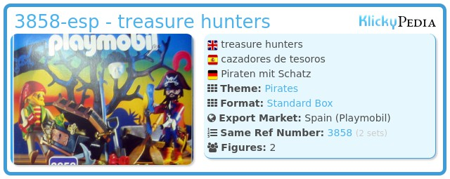 Playmobil 3858-esp - treasure hunters