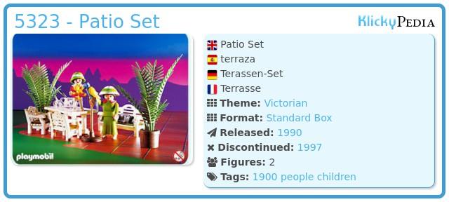 Playmobil 5323 - Patio Set