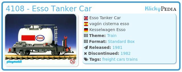 Playmobil 4108 - Esso Tanker Car