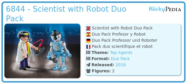 Playmobil 6844 - Scientist with Robot Duo Pack