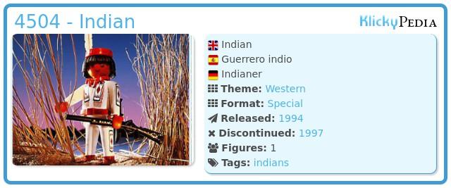 Playmobil 4504 - Indian