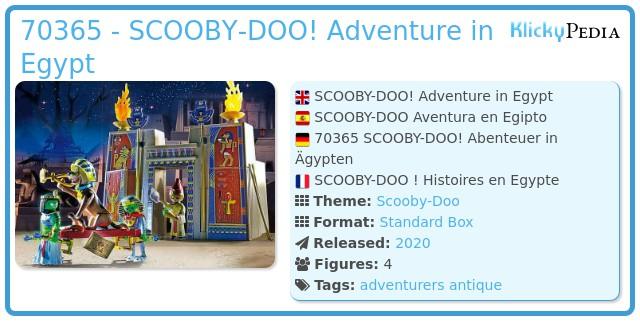 Playmobil 70365 - SCOOBY-DOO! Adventure in Egypt