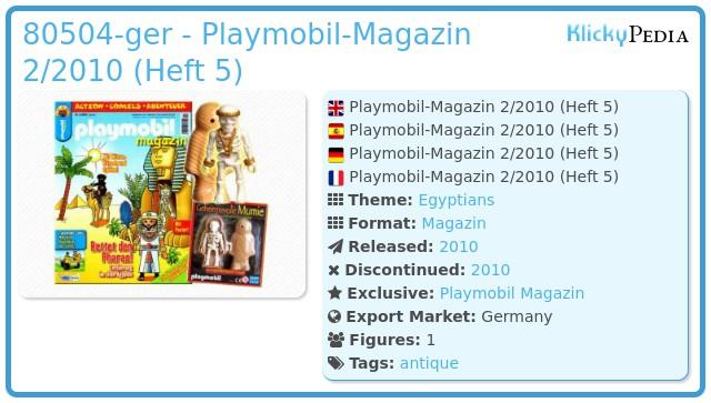Playmobil 00000-ger - Playmobil Magazin 2/2010 (Heft 5)