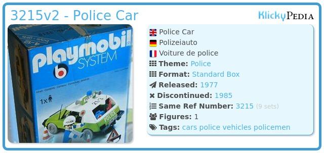 Playmobil 3215v2 - Police car