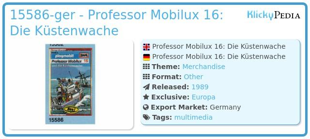 Playmobil 15586-ger - Professor Mobilux 16: Die Küstenwache
