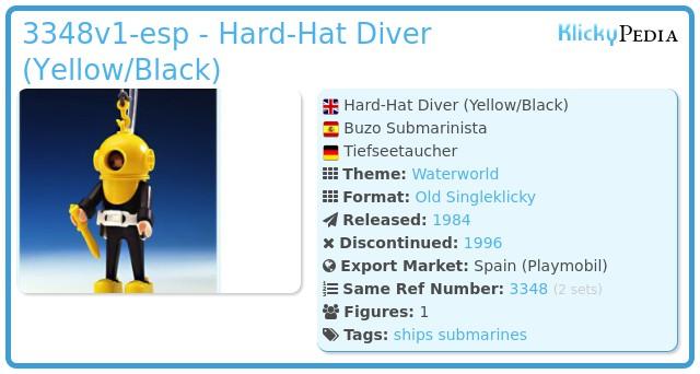 Playmobil 3348v1-esp - Hard-Hat Diver (Yellow/Black)