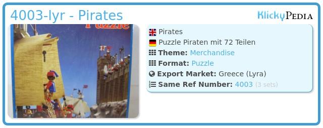 Playmobil 4003-lyr - Pirates