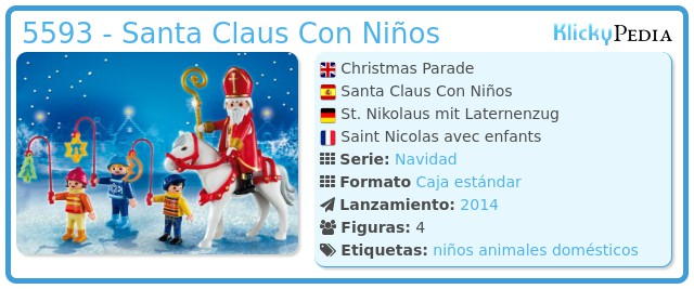 Playmobil 5593 - Santa Claus Con Niños