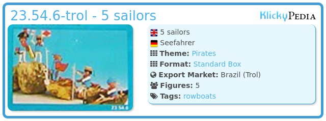 Playmobil 23.54.6-trol - 5 sailors