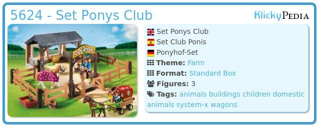 Playmobil 5624 - Set Ponys Club