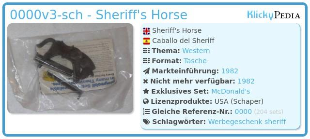 Playmobil 0000v3-sch - Sheriff's Horse