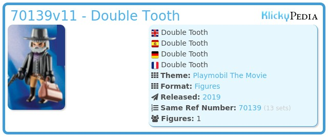 Playmobil 70139v11 - Double Tooth
