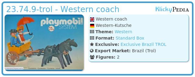 Playmobil 23.74.9-trol - Western coach