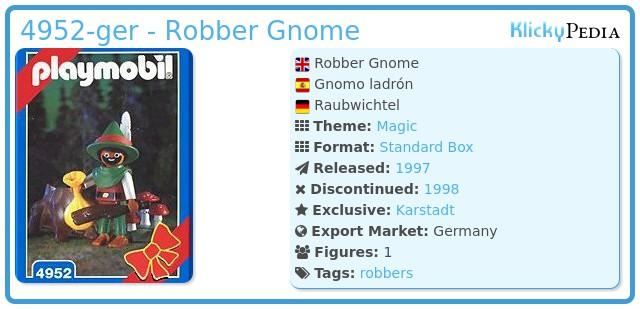 Playmobil 4952-ger - Robber Gnome