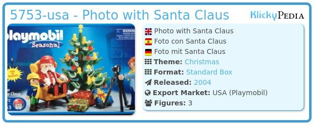 Playmobil 5753-usa - Photo with Santa Claus