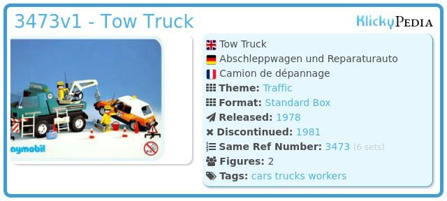 Playmobil 3473v1 - Tow Truck