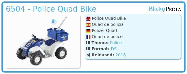 Playmobil 6504 - Police Quad Bike