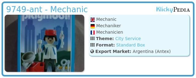 Playmobil 9749-ant - Mechanic