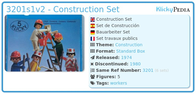 Playmobil 3201v2 - Construction Set