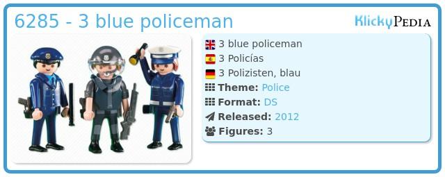 Playmobil 6285 - 3 blue policeman