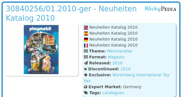 Playmobil 30840256/01.2010-ger - Neuheiten Katalog 2010