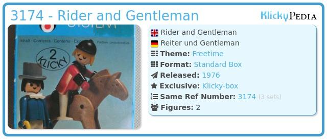 Playmobil 3174 - Rider and Gentleman