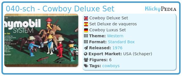 Playmobil 040-sch - Cowboy Deluxe Set