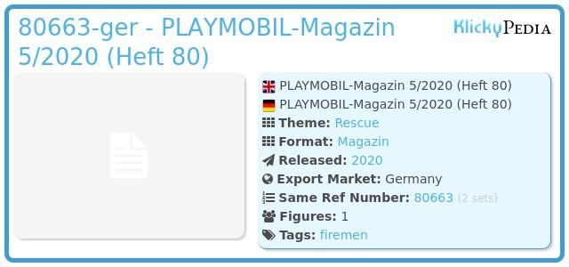 Playmobil 80663-ger - PLAYMOBIL-Magazin 5/2020 (Heft 80)