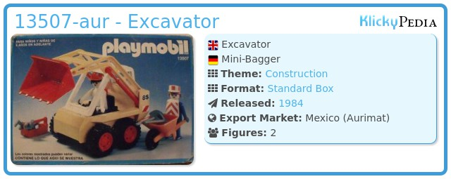 Playmobil 13507-aur - Excavator