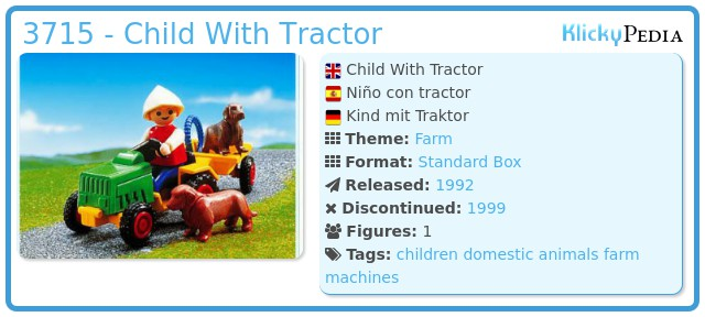 Playmobil 3715 - Child With Traktor