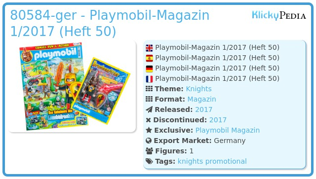 Playmobil 80584-ger - PLAYMOBIL-Magazin 1/2017 (Heft 50)