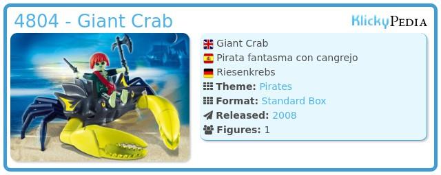 Playmobil 4804 - Giant Crab